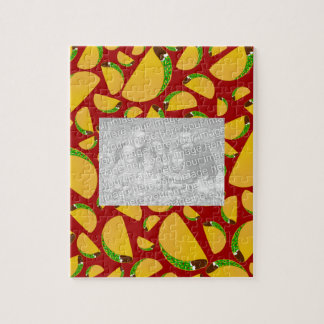 Red taco pattern jigsaw puzzle