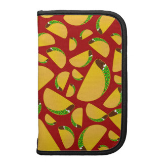 Red taco pattern folio planners
