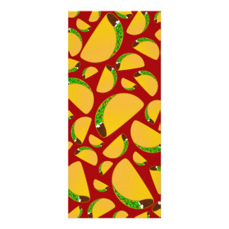Red taco pattern rack cards