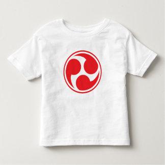 Red Taiko Mitsudomoe Toddler T-shirt