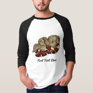 Red Tail Boa Basic 3/4 Sleeve Raglan T-Shirt