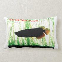 Red Tail Golden Arowana Lumbar Pillow