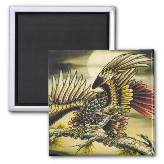 """""""Red Tail Hawk"""" 2 Inch Square Magnet"""