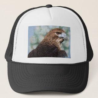 Red-tail Hawk airbrush Trucker Hat