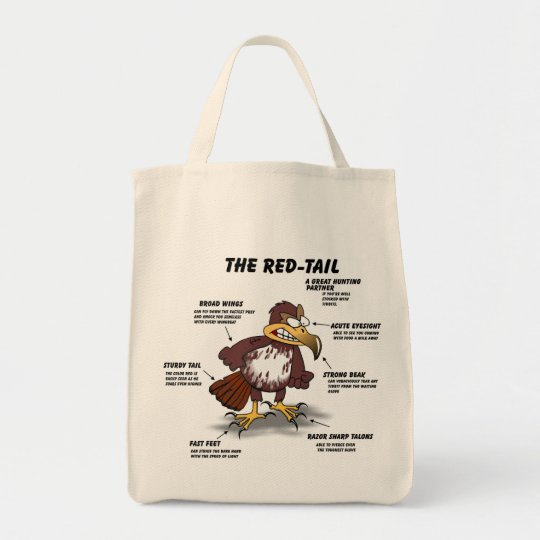 Red-tail Hawk Cartoon Tote Bag