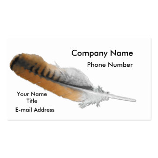 Red-tail Hawk feather Double-Sided Standard Business Cards (Pack Of 100)