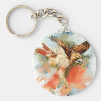 Red Tail Hawk Keychain