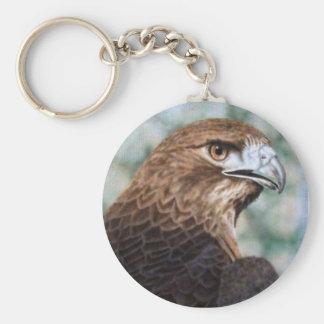 Red-tail Hawk Keychain