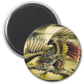 """Red Tail Hawk"" 2 Inch Round Magnet"
