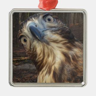Red tail hawk metal ornament