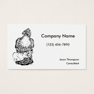 Red-tail Hawk on Glove Business Card