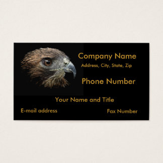Red-tail Hawk pastel Business Card