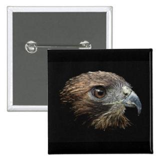 Red-tail Hawk pastel Pin