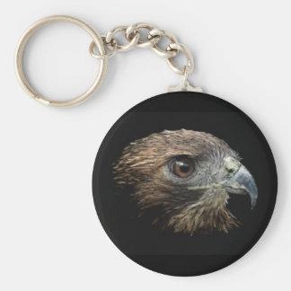 Red-tail Hawk pastel Keychain