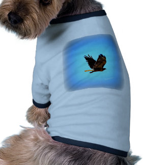 Red Tail Hawk Picture Dog Tee Shirt