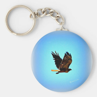 Red Tail Hawk Picture Keychain