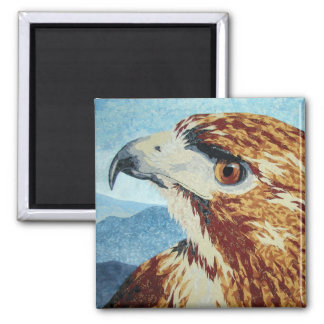 Red-tail Hawk textile Magnet