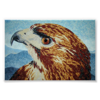 Red-tail Hawk-textile Posters