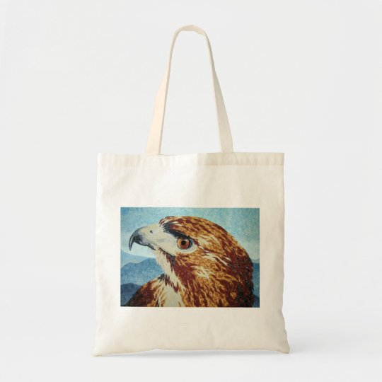 Red-tail Hawk textile Tote Bag