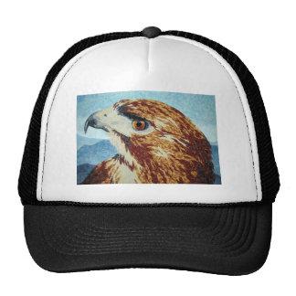 Red-tail Hawk textile Trucker Hat
