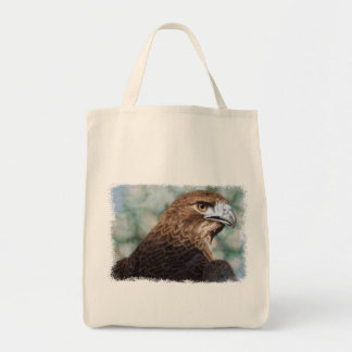 Red-tail Hawk tote