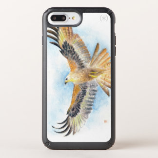 Red Tail Hawk Watercolor Art Speck iPhone Case