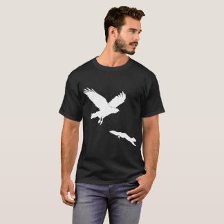 Red tail on squirrel silouette T-Shirt