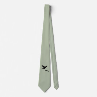 Red tail on squirrel silouette tie