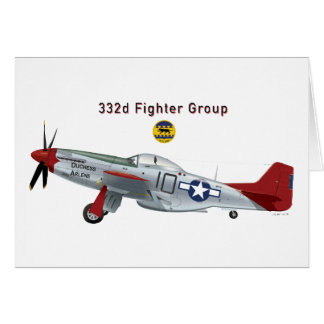 Red Tail P-51D Mustang of the 332d Fighter Group Card