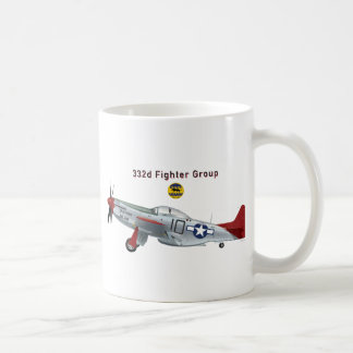 Red Tail P-51D Mustang of the 332d Fighter Group Coffee Mug