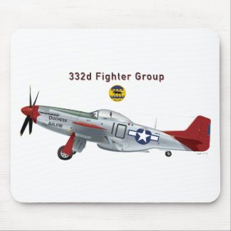Red Tail P-51D Mustang of the 332d Fighter Group Mouse Pad