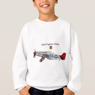 Red Tail P-51D Mustang of the 332d Fighter Group Sweatshirt