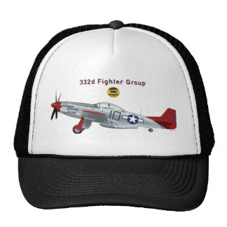 Red Tail P-51D Mustang of the 332d Fighter Group Trucker Hat