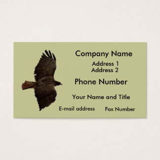 Red-tail sketch business card