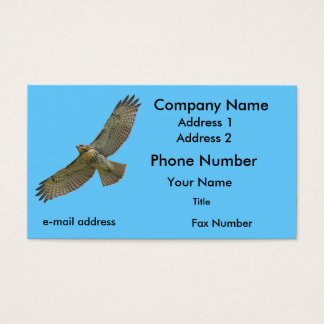 red-tail soaring business card
