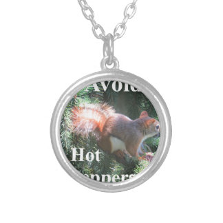 Red tail Squirrel Silver Plated Necklace