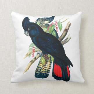 Red tailed, Black (Banksian) Cockatoos. Pillow