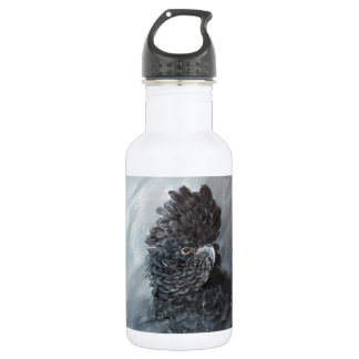 Red tailed black Cockatoo for parrot lovers 18oz Water Bottle
