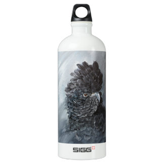 Red tailed black Cockatoo for parrot lovers Water Bottle