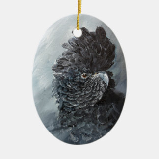 Red tailed black Cockatoo gifts for parrot lovers Ceramic Ornament
