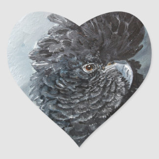 Red tailed black Cockatoo gifts for parrot lovers Heart Sticker