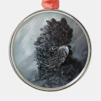 Red tailed black Cockatoo gifts for parrot lovers Metal Ornament