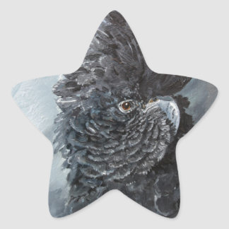 Red tailed black Cockatoo gifts for parrot lovers Star Sticker