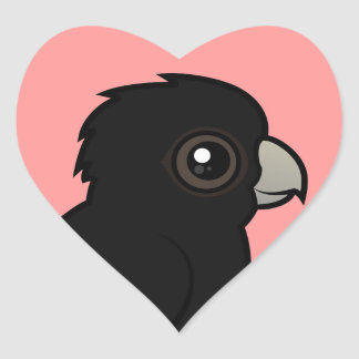 Red-tailed Black Cockatoo Heart Sticker