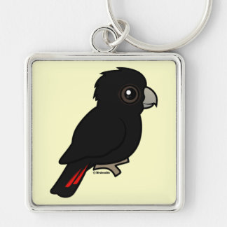 Red-tailed Black Cockatoo Keychain