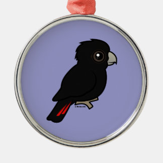 Red-tailed Black Cockatoo Metal Ornament