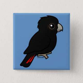 Red-tailed Black Cockatoo Pinback Button