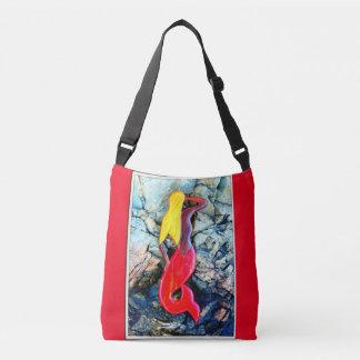 red-tailed blonde mermaid crossbody bag
