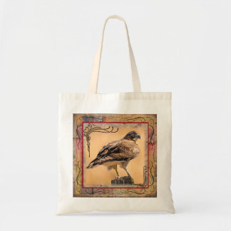 Red-Tailed Collage Hawk Budget Tote