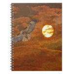 Red Tailed Hack and Red Skies Spiral Notebook